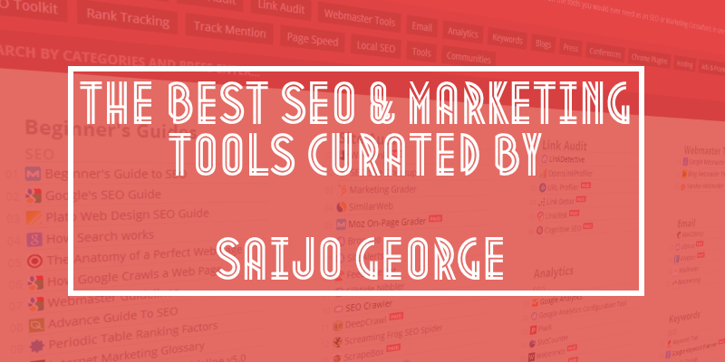 Best SEO Tools 🛠 curated by Saijo George