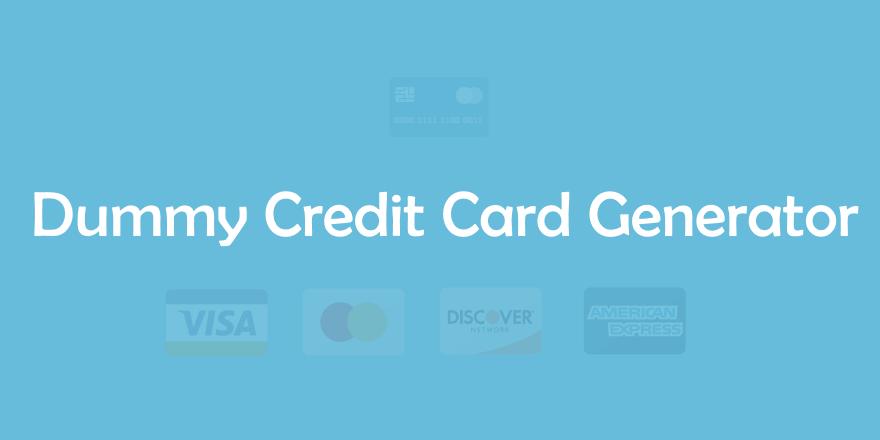 dummy    fake credit card generator