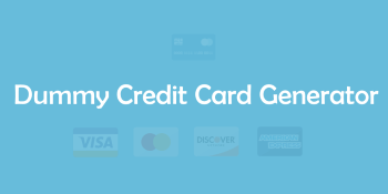 Dummy / Fake Credit Card Generator 💳